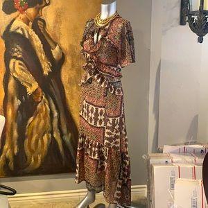 NWT Lovestitch Boho Ruffled Dress.  M